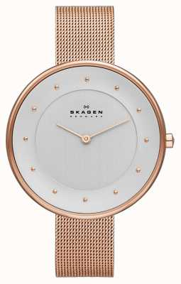 Skagen Ladies Klassik Rose Gold Mesh Watch SKW2142