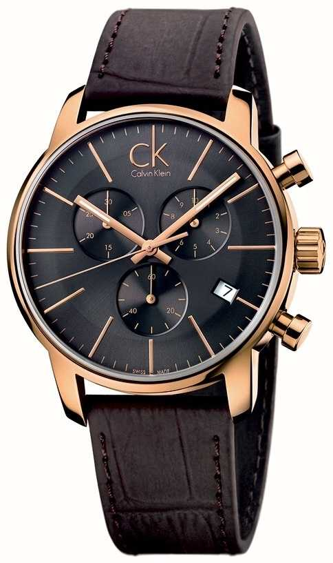 Calvin klein black and gold watch