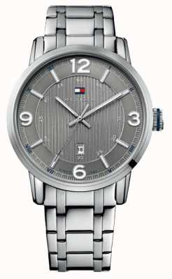 Tommy Hilfiger Ex Display Mens Grey and Silver George Watch 1710345
