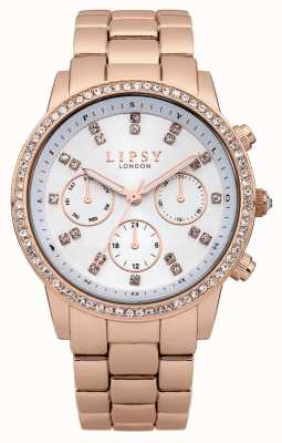 Lipsy Rose Gold Stainless Steel bracelet With Diamante Dial LP240