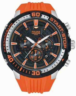 Pulsar Mens X Chronograph Orange and Black PT3511X1