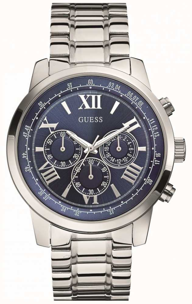 f37053f1f Guess Mens Stainless Steel Battery Powered Quartz Analog W0379G3 ...