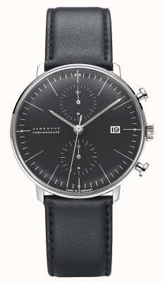 Junghans Max Bill Chronoscope | Black Leather Strap 027/4601.04