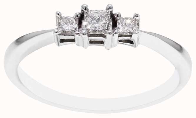 9k White Gold 3 Diamond Ring FCD00396