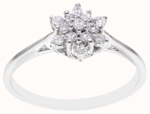 9k White Gold Diamond Ring FCD00397