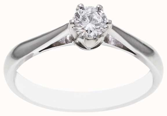 18k White Gold 0.25ct Diamond Ring FCD00401
