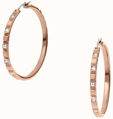 DKNY Urban Essentials Rose Gold Tone Hoop Earrings NJ2115791