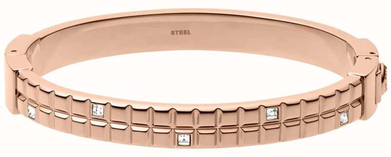 DKNY Ladies Rose Gold Plated Urban Essentials Bangle NJ2109791