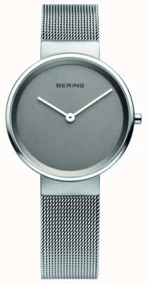 Bering Womens classic, Mesh, Grey Dial, Steel Watch 14531-077
