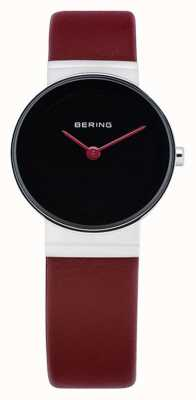Bering Womens classic, Black, Cherry Leather 14531-642