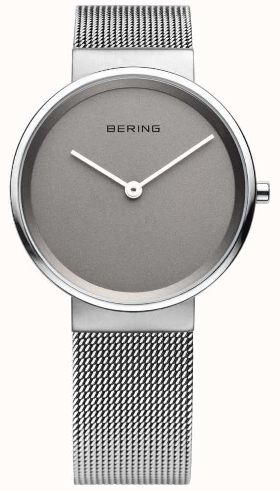 adca9bb79 Bering mens classic mesh grey dial watch first class jpg 571x1000 Bering  14539