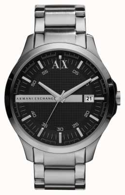 Armani Exchange Gents Smart Silver Tone Watch AX2103