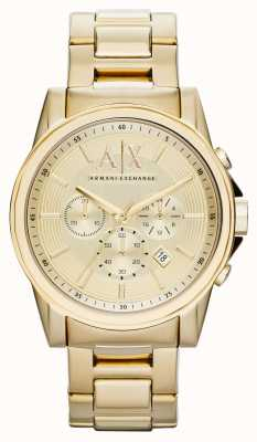 Armani Exchange Mens Chronograph Smart Gold PVD Plated AX2099