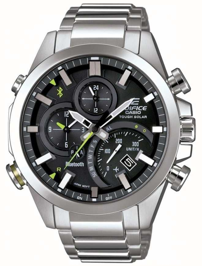 Casio Edifice Bluetooth Sync Tough Solar Smartwatch Black Eqb 501d