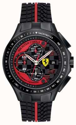 Scuderia Ferrari Mens Race Day, Black, Rubber Strap Watch 0830077