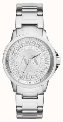 Armani Exchange Womens Urban Crystal Set Stainless Steel Bracelet AX4320