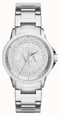 Armani Exchange Womens Urban Crystal Set Stainless Steel Bracelet AX4320