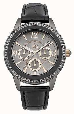 Lipsy Lades Grey and Black Strap Watch LP284