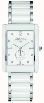 Roamer Womens Ceraline Saphira White Ceramic Watch 690855412960