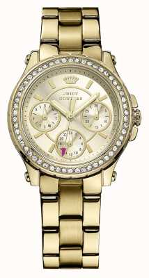 Juicy Couture Womens Pedigree, Gold, Crystal, Bracelet 1901105