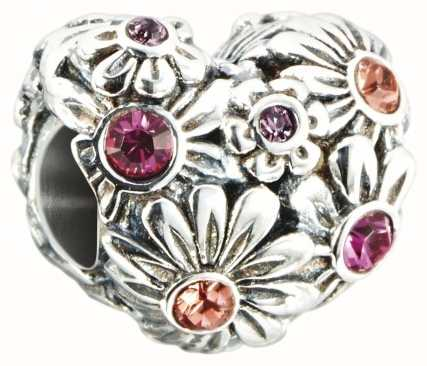Chamilia Zinnia Jeweled Heart Charm 2025-1323