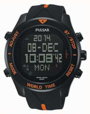 Pulsar Mens Pulsar Alarm Chronograph Watch PQ2037X1
