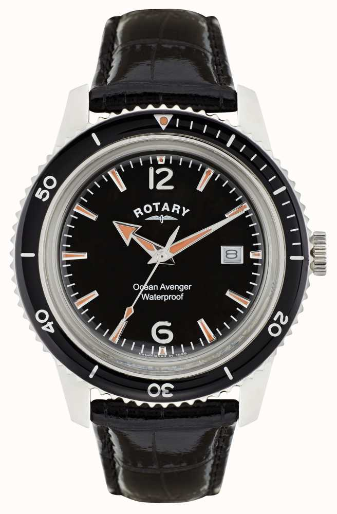 Rotary mens timepieces ocean avenger gs02694 04 first class watches usa for Avengers watches