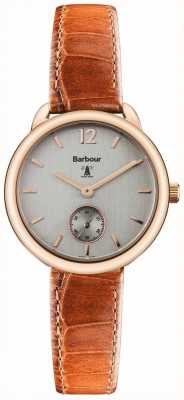Barbour Ladies Whitley Brown Leather Watch BB035RSTN