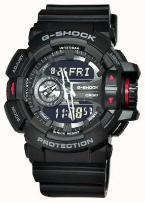 Casio Men's G-Shock Black Chronograph Watch GA-400-1BER