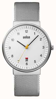 Braun Mens Silver White Watch BN0032WHSLMHG