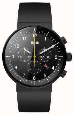 Braun Mens Prestige Black Chronograph Watch BN0095BKBKBKG