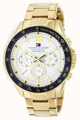 Tommy Hilfiger Mens Luke Watch | PVD Case | Gold Stainless Steel Strap | 1791121