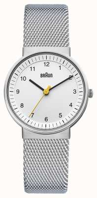 Braun Ladies Silver White Watch BN0031WHSLMHL