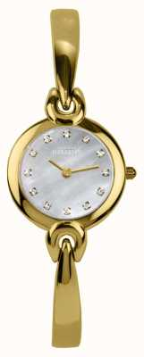 Michel Herbelin Mother Of Pearl Dial, Gold Tone Bracelet 17001/BP59