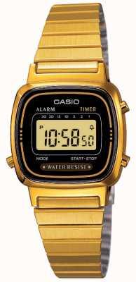 Casio Women's Digital Bracelet Retro Gold Plated LA670WEGA-1EF