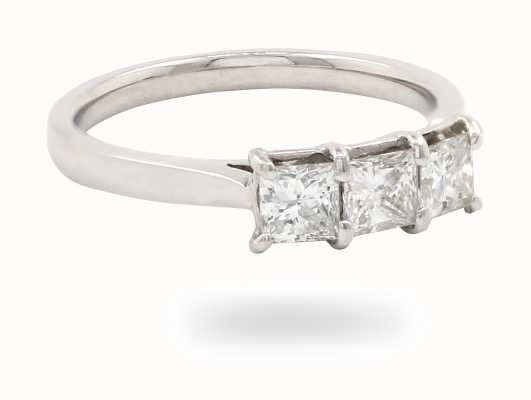 18k White Gold 3 Stone Diamond Ring JM1372