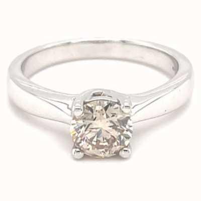18k White Gold 1.02ct Solitaire Diamond Ring JM2409