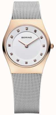 Bering Womens Stainless Steel Mesh PVD Rose Gold 11927-064