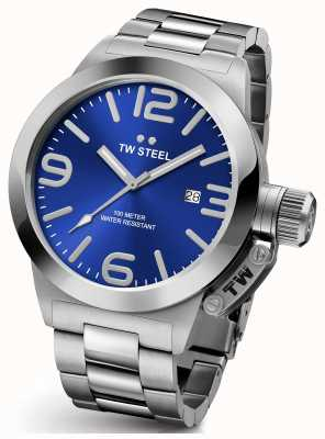 TW Steel Mens Canteen 45mm Stainless Steel Blue Dial CB11