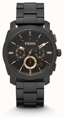 Fossil Mens Machine Black PVD Plated FS4682