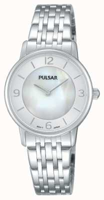 Pulsar Womens Stainless Steel Mother Of Pearl Dial PRW025X1
