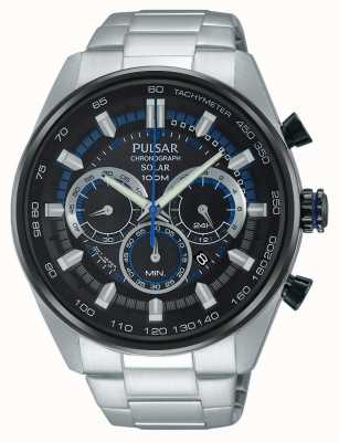 Pulsar Mens WRC Chronograph Solar Stainless Steel PX5019X1