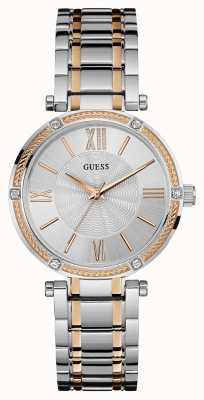 Guess Womens Park Avenue, Rose Gold & Steel, Stone W0636L1