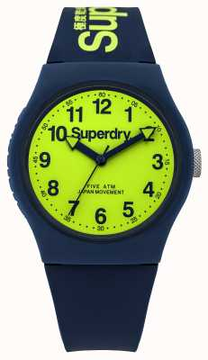 Superdry Mens Urban Blue Rubber Strap Green Dial SYG164UN