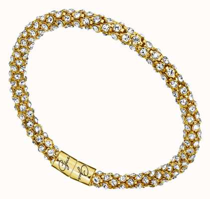 Guess Womens Glamazon Gold Crystal Bangle UBB81333