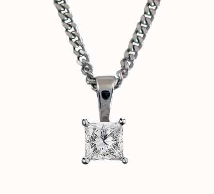 18ct White Gold 'Princess Cut' 0.50ct H SI PRINCESS-P050