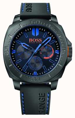 Hugo Boss Orange Mens Sao Paulo Black Rubber Strap Black Dial 1513242