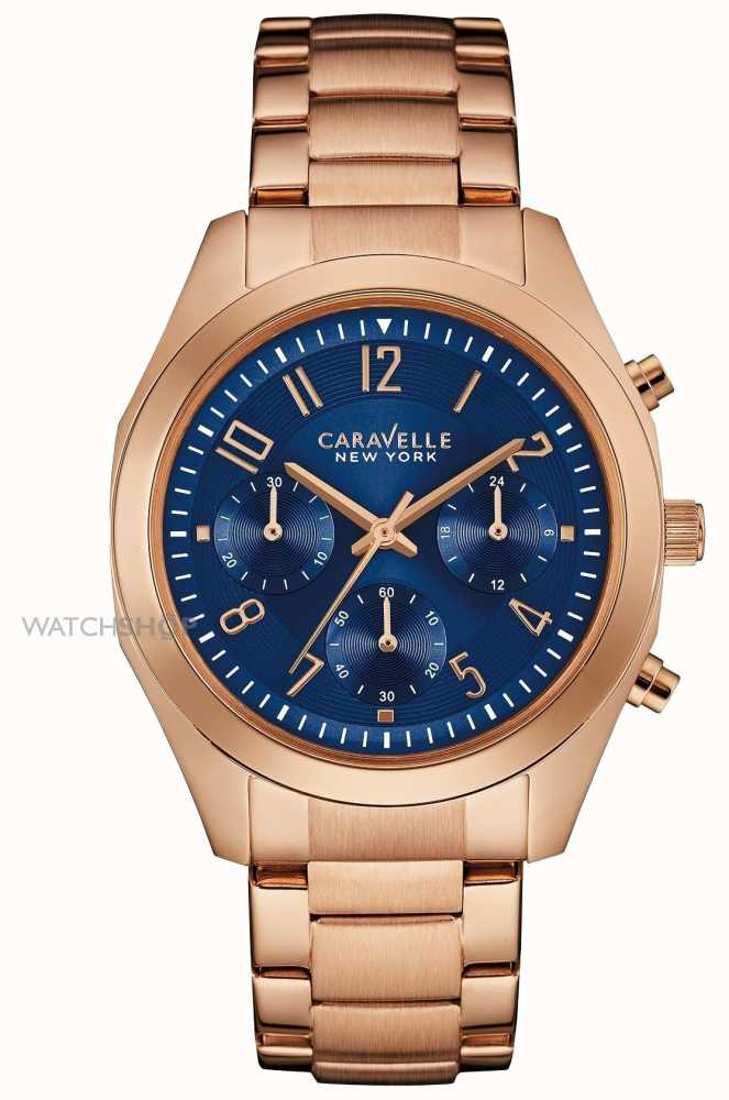ae116a865dc2e Caravelle New York Ladies Rose Gold Melissa Watch 44L199 - First ...
