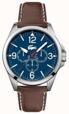 Lacoste Mens Montreal Brown Leather Strap Chrono 2010805