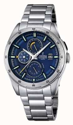 Festina Mens Stainless Steel Multifunction Dial F16876/2
